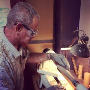 Photo of Alan working
