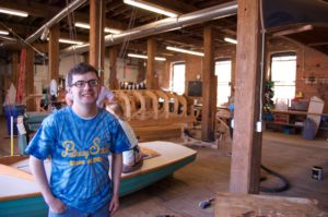 Emmett working at Global Dye Works