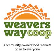 Logo for Weavers Way Coop - an oranger sun over the words Weavers Way Coop
