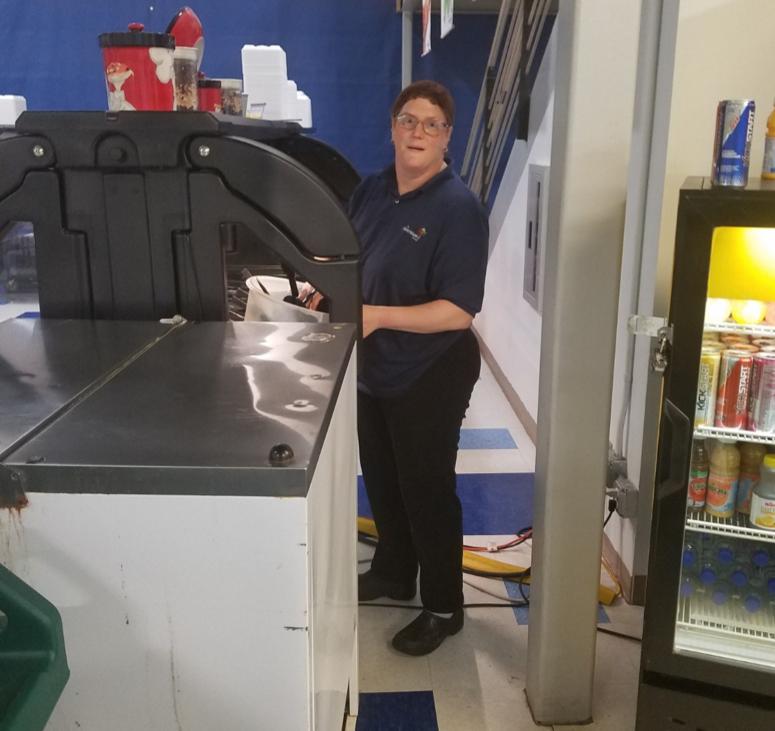 Kim on the job at MAST Community Charter School